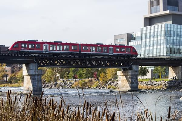 Photo for the post: O-Train Grounded at Carleton University